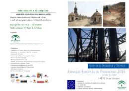 folleto jep 2015 - European Heritage Days