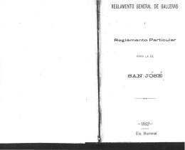 Reglamento General de Galleras