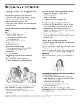 Mariguana y el Embarazo - Alameda County Public Health