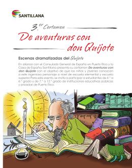 Folleto con reglas del Certamen de Don Quijote 2015-2016