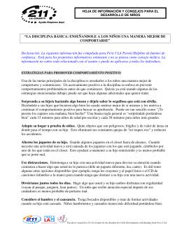 """""""LA DISCIPLINA BÁSICA: ENSEÑANDOLE A LOS"""