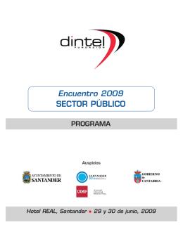 FOLLETO SANTANDER - Fundación DINTEL