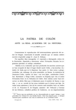 LA PATRIA DE COLÓN