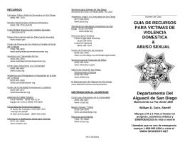 GUIA DE RECURSOS PARA VICTIMAS DE VIOLENCIA