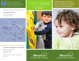 NICU Graduate Program brochure - Spanish