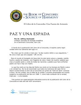 PAZ Y UNA ESPADA - International Lutheran Council