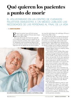 Qué quieren los pacientes a punto de morir