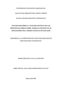 estudio histórico y análisis estético de las principales obras sobre