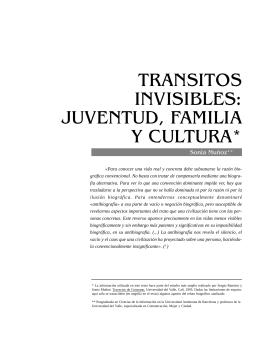 Tránsitos invisibles: juventud, familia y cultura