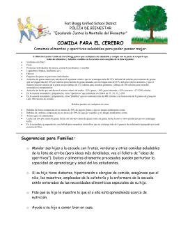 COMIDA PARA EL CEREBRO