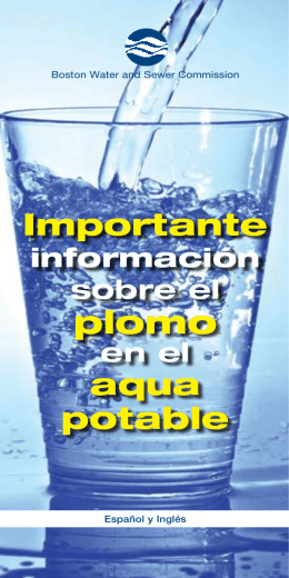 Importante aqua potable - Boston Water and Sewer Commission