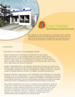 Folleto de Ener-Habitat