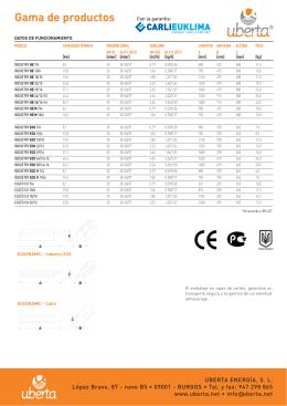 folleto comercial euceramic - Tagsa Instalaciones y Servicios, SA