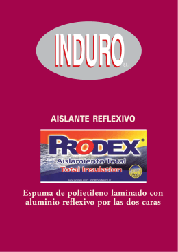 folleto prodex - induro