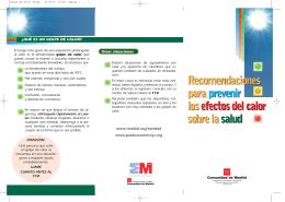 Recomendaciones para prevenir los efectos del calor sobre la salud