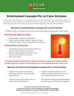 Enfermedad Causada Por el Calor Extremo