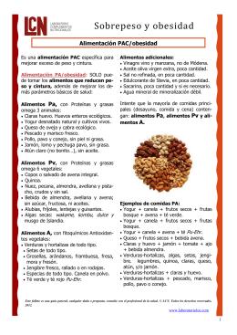 alimentación PAC/obesidad