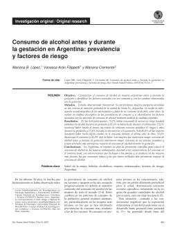 Consumo de alcohol antes y durante la gestación en