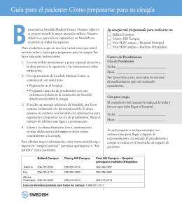 Guía para el paciente: Cómo prepararse para su cirugía