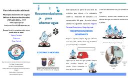 Ahorrar Agua – Cocina y Hogar - Municipio Autónomo de Caguas