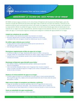 asegurando la calidad del agua potable en su hogar
