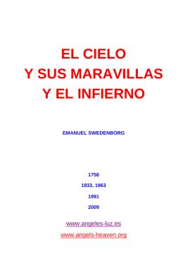 EL CIELO Y SUS MARAVILLAS Y EL INFIERNO