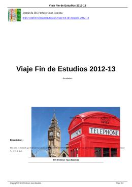 Viaje Fin de Estudios 2012-13