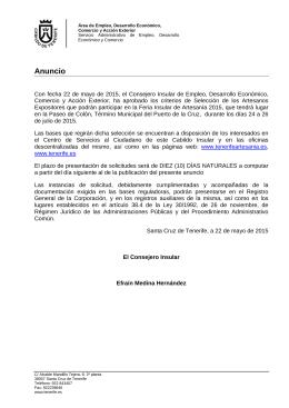 Anuncio Boletín Oficial