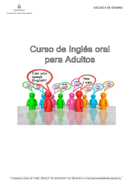 folleto curso Ingles adultos