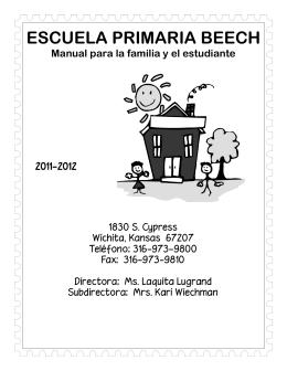 ESCUELA PRIMARIA BEECH Manual para la familia y el estudiante