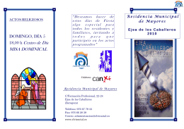 FOLLETO FIESTAS 2010 - Fundación Elvira Otal