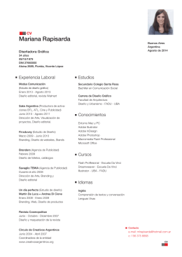 Portafolio de Mariana Rapisarda Tamaño: 3.41 MB