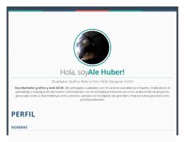 Huber Alejandro / CV & Portfolio