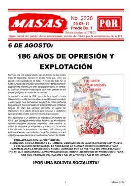 186 años de opresión y explotación