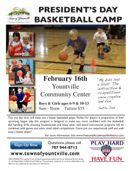 PRESIDENT`S DAY BASKETBALL CAMP