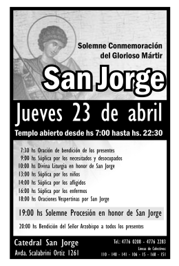 Folleto día de San Jorge