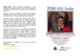folleto de pedro ania - Ayuntamiento de Sariñena