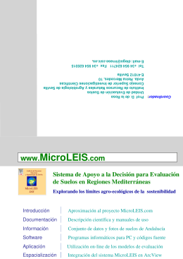 Folleto de MicroLEIS