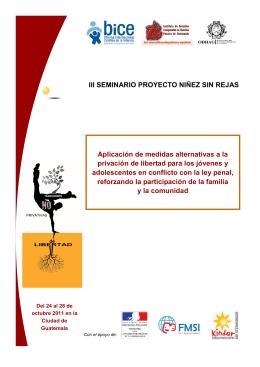 folleto seminario Guatemala - Observatorio Internacional de Justicia