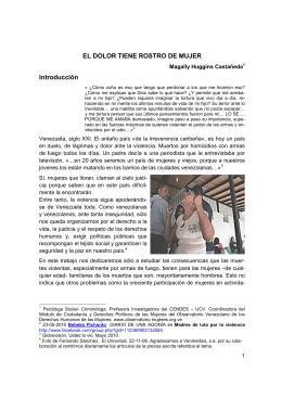 EL DOLOR TIENE ROSTRO DE MUJER Introducción