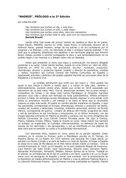 PRÓLOGO MADRID, libro César Falcón lectura