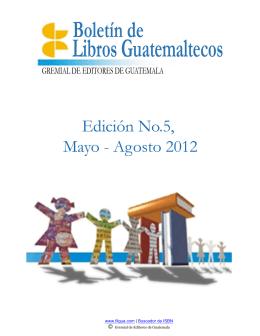 Boletín No.5, Mayo a Agosto 2012 - Feria Internacional del Libro de