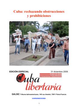 Cuba: rechazando obstrucciones y prohibiciones