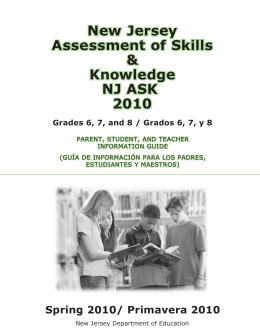 New Jersey Assessment of Skills & Knowledge NJ ASK 2010
