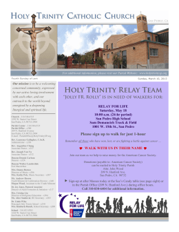Holy Trinity Relay Team - Holy Trinity Catholic Church