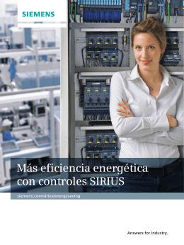 Más eficiencia energética con controles SIRIUS