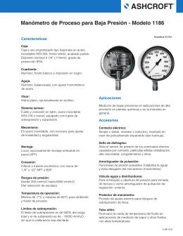Manómetro de Proceso para Baja Presión - Modelo 1186