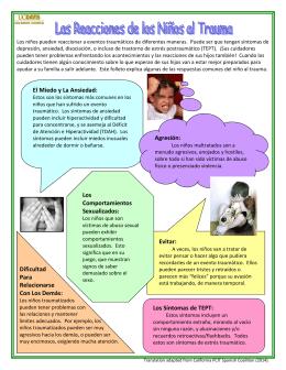 Las Reacciones de los Niños al Trauma 2/10/14