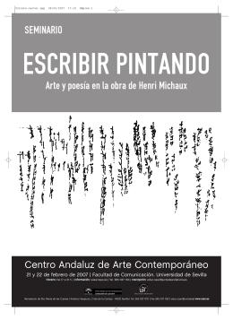 Escribir pintando: arte y poesía en la obra de Henri Michaux