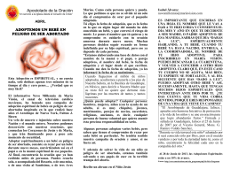 Abril - 2014 - Adoptemos un bebé en peligro de ser abortado